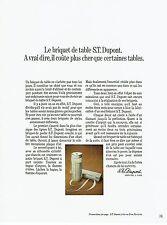 Publicité Advertising 067  1971   briquet de table S.T Dupont