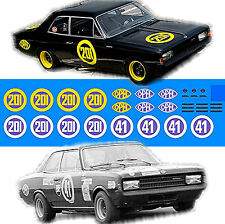 Opel Rekord C Renntourenwagen #201 + #41 Schwarze Witwe 1:43 Decal Abziehbilder