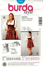 0ea2dc5cf Burda Sewing Pattern 7443 Womens Dirndl Folk Costume Dress Size 10-24