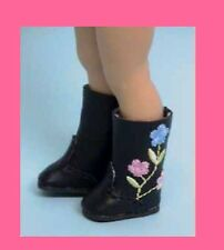 Doll Shoes 25/12 Floral Embroidered Boots Custom for Kish Riley