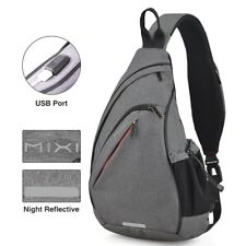 Backpack Men One Shoulder  Women Sling Bag USB Boys Cycling Sports Travel Versat