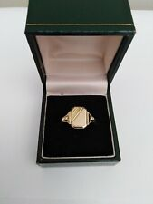 9ct Gold on Silver Men's signet Ring Boxed