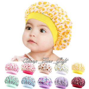 Cotton Printed Bonnet For Kids Cute Girls Night Sleep Cap Hair Care Hat Turban