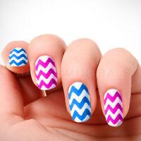 2x Chevron Nail Stickers (60pc) Guides Tips White Manicure Art Zig Zag Stencil