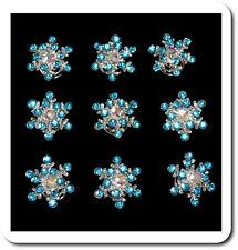10 Curlies Haarspiralen Schneeflocken Blau Spiralhaar Braut Hochzeit Kristall