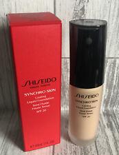 Shiseido Synchro Skin Lasting Liquid Foundation SPF20 Neutral 3 30ml *FAST POST*