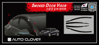 Smoke Tinted Weather Shields 4pcs for 05/2017 ~ 2018 Holden Astra 4dr Sedan