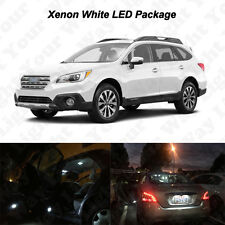 12x White LED Interior Bulbs + License Plate Lights For 2010-2017 Subaru Outback