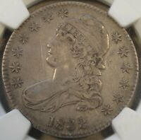 1832 Large Letters Capped Bust Half Dollar 50c NGC Certified XF40