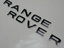 Range Rover Sport Evoque bordure surélevée lèvre Argent Noir Badge Capot lettrage
