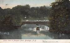 Antique POSTCARD c1907 Lake View in Prospect Park BROOKLYN, NY NYC 13868