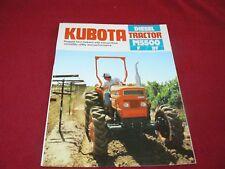 Kubota M5500 Tractor Dealer's Brochure 522-01-US