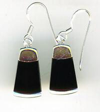 """925 Sterling Silver Black Onyx Drop / Dangle Long Earrings   Length 1.1/4""""  32mm"""
