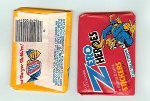 1983 Donruss Zero Heroes Stickers single  Wax Pack