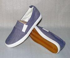 DT New York Classic Slipper Herren Strand Schuhe Sneaker Gr. 40 Denim Blau Weiß