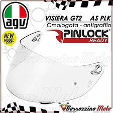 VISIERA ORIGINALE AGV GT2 AS PLK TRASPARENTE CHIARA ANTIGRAFFIO CASCO K-5 K5 ML