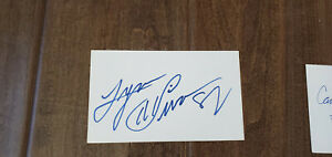 LYNN SWANN SIGNED 3X5 INDEX CARD PITTSBURGH STEELERS USC TROJANS PSA DNA COA