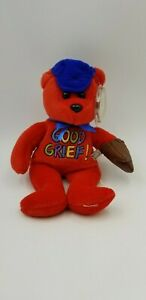 """CELEBRITY BEARS 2000 Star #69 PEANUTS Charlie Brown """"Good Grief"""" Toy 9"""" Plush"""