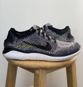 Nike Free RN Flyknit 2018 White Black 942838 101 Multiple Sizes New