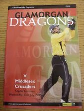 20/07/2005 Cricket Programme: Glamorgan v Middlesex. Thanks for taking the time