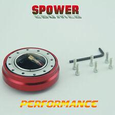 Universal Red Car Short Quick Release Kit 6 Hole Steering Wheel Hub Boss Adapter
