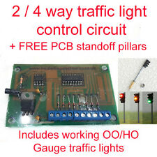 2/4 Way Traffic Light Control Model Railway  HO/OO gauge inc Traffic lights