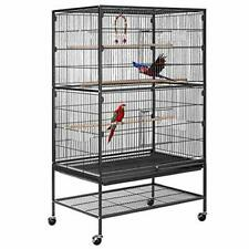 53 Inch Wrought Iron Large Bird Cage with Rolling Stand Parrots Conures Lovebird