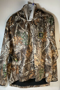 MENS REALTREE EDGE CAMO HUNTING TECH HOODIE w/ Built-In FACE GAITER MASK 2XL