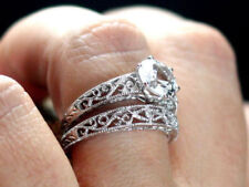 Set in Solid 14K White Gold 2.75Ct Round D/Vvs1 Diamond Engagement Wedding Ring