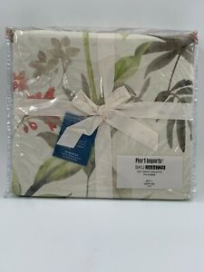 NEW Pier 1 Pier One Imports Duvet Cover QUEEN/FULL Trinity Palms Floral 90 X 94