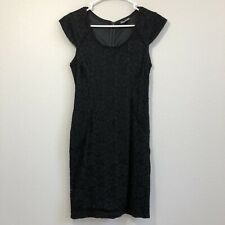 Express Womens Sheath Dress Size 4 Black Lace Overlay Lined Career to Evening