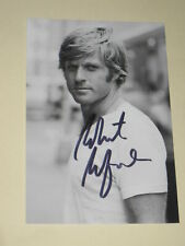 "Excellent Robert Redford Signed, Pristine Black & White Photograph, 4""x 6"", Mint"