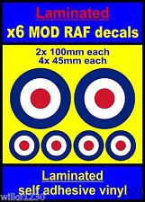 Laminated 6x RAF Roundel stickers The Who Mod Target Scooter Decals vespa car