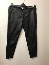 Banana Republic Sloan Black Faux Leather Leggings/Trousers Size 10