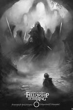 """Karl Fitzgerald Lord of The Rings print """"The Fellowship of the Ring"""" Variant"""