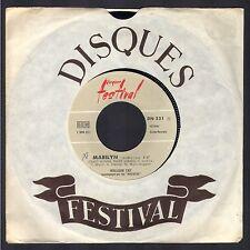 WILLIAM TAY et LES ROCKETS Juke Box 45T Biem FESTIVAL 521 Marilyn + Que pour toi
