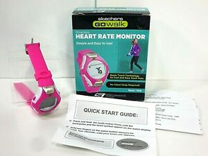 Skechers Heart Rate Monitor Watch GoWalk  with instructions Box Pink