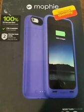 Mophie Juice Pack Air Extra Battery Case Purple for Iphone 6 High Impact Protect