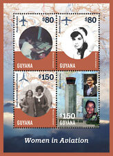 Guyana- Women in Aviation Stamp Sheetlet 4 Volume