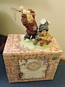 Boyd Bears The Wee Folkstone Collection Snow People Vintage New in Box 1987