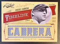 2012 Panini Prime Cuts Timeline MIGUEL CABRERA Jersey Patch Relic SP /25 TIGERS