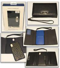 REBECCA MINKOFF - Black Leather - Love Lock iphone X Case Wristlet Wallet *NEW