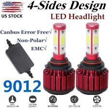 4-Sides 9012 COB LED Headlight Bulbs Light 6500K 32000LM 120W +Canbus Error Free