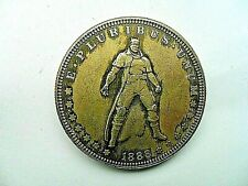 Unusual New HELLBOY 1888 US Silver Morgan Dollar Hobo Carved Coin