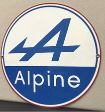 Alpine French Racing Renault  Vintage Logo Reproduction Garage Sign