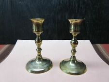 """Pair Brass 4-1/2"""" Taper Candle Holders"""