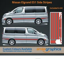 Nissan Elgrand E51 Stripe Kit Stickers decals - Other colours available