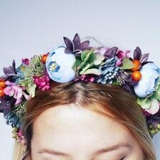 Frida Kahlo Flower Crown / headband / hairband - Bridal Crown