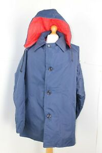 Dunlop 1970's Mens Blue and Red weatherproof Coat made from Dunloprufe