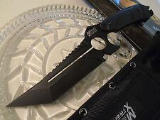 Mtech Xtreme Tanto Combat Dagger Hunter Knife Black 440C Full Tang G10 MX-8135